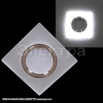 Светильник точечный 55031-9.0-001MN MR16+LED3W WT белый стеклян квадрат