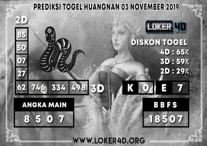 PREDIKSI TOGEL HUANGNAN LOKER4D 03 NOVEMBER 2019