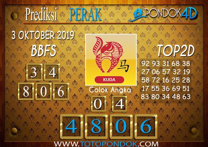 Prediksi Togel PERAK PONDOK4D 3 OKTOBER 2019