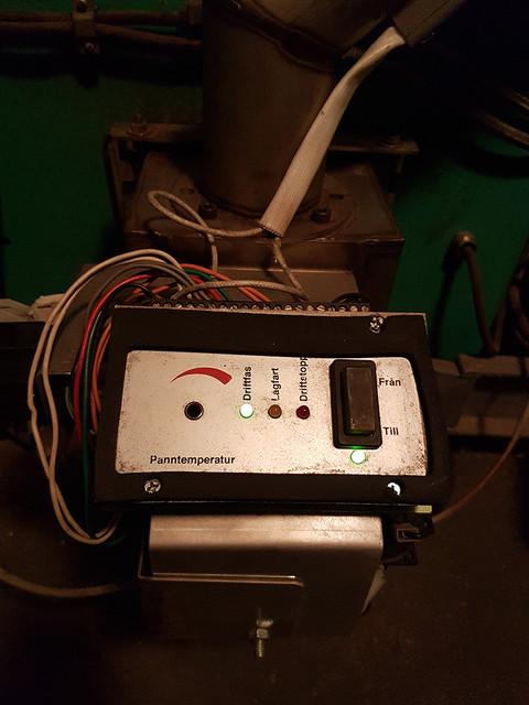 Ovansida/framsida på brännare, KMP PX-21