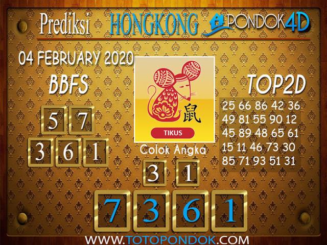 Prediksi Togel HONGKONG PONDOK4D 04 FEBRUARY 2020