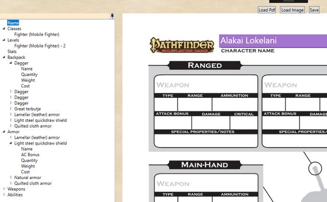 Universal Pathfinder character sheet export plugin - Lone Wolf
