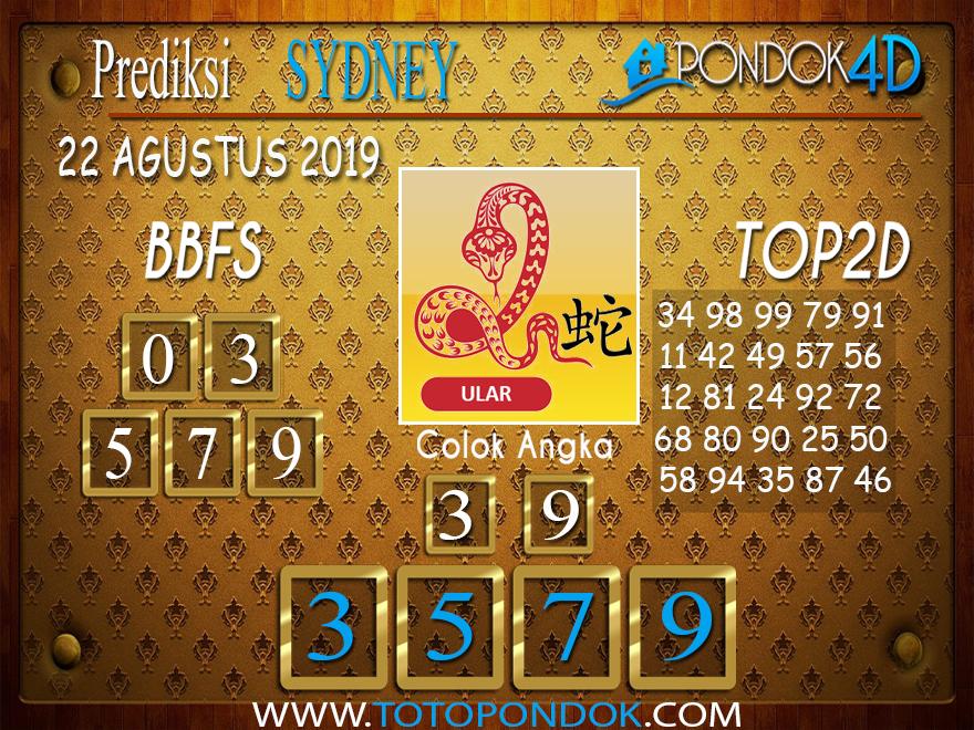Prediksi Togel SYDNEY PONDOK4D 22 AGUSTUS 2019