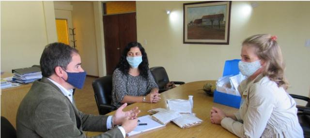 Regionales: El intendente de Larroque recibió a la Presidenta Comunal de Irazusta