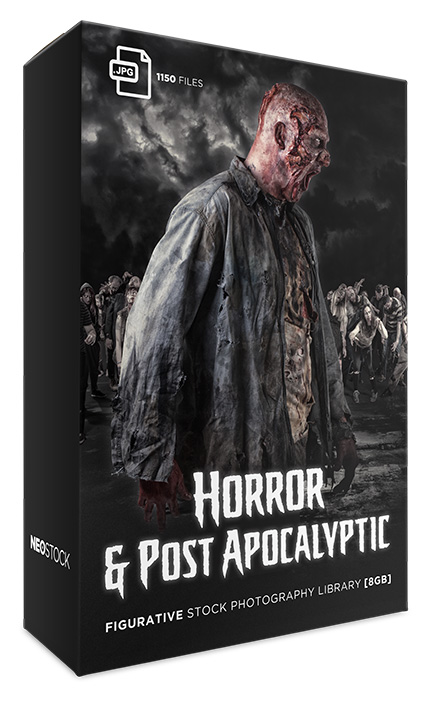 horror and post apocalyptic photo stock library bundle neostock