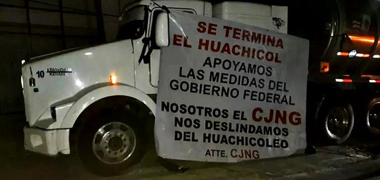 CJNG se deslinda del huachicol en Jalisco en apoyo al gobierno
