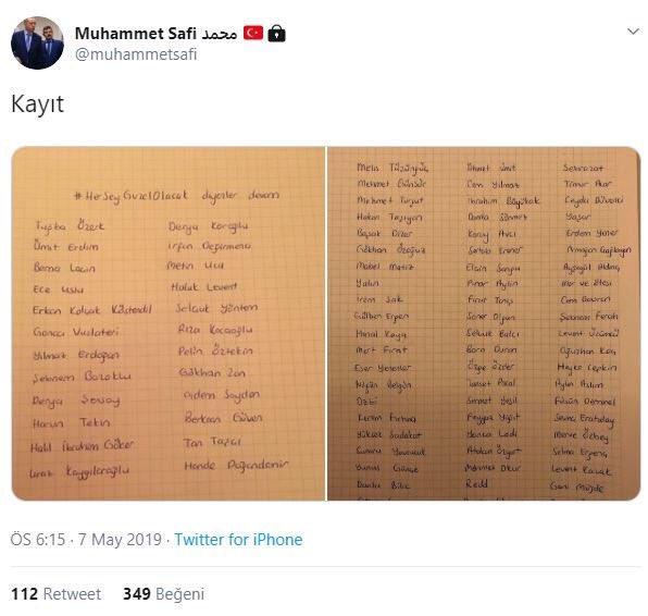 Muhammet Safi tweet