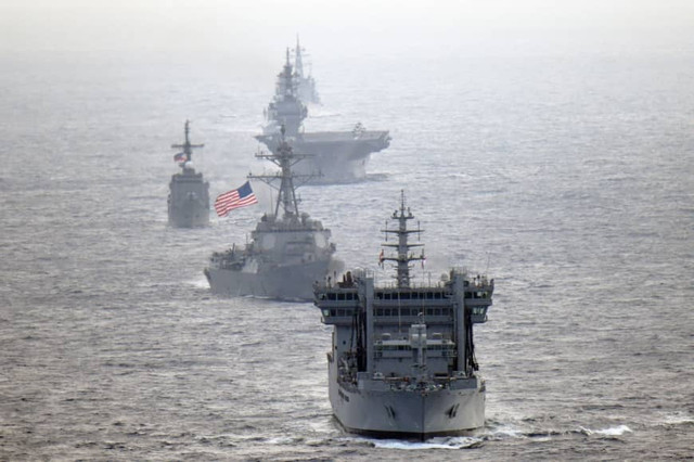Military-naval-exer-India-Phil-Japan-Usa-South-China-sea-May-2019