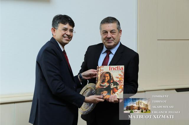 Mr. Manish Prabhat, Ambassador of India visited  Urgench branch of Tashkent Medical Academy