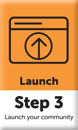 button with step 3 launch graphic