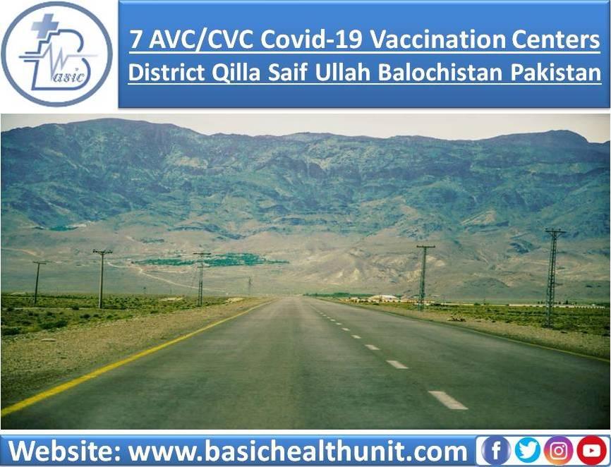7 AVC/CVC Covid-19 Vaccination Centers In District Qilla Saif Ullah Balochistan Pakistan