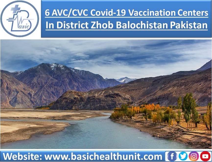6 AVC/CVC Covid-19 Vaccination Centers In District Zhob Balochistan Pakistan