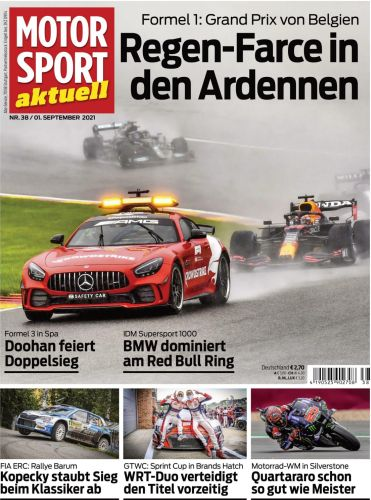 Cover: Motorsport aktuell Magazin No 38 vom 01  september 2021
