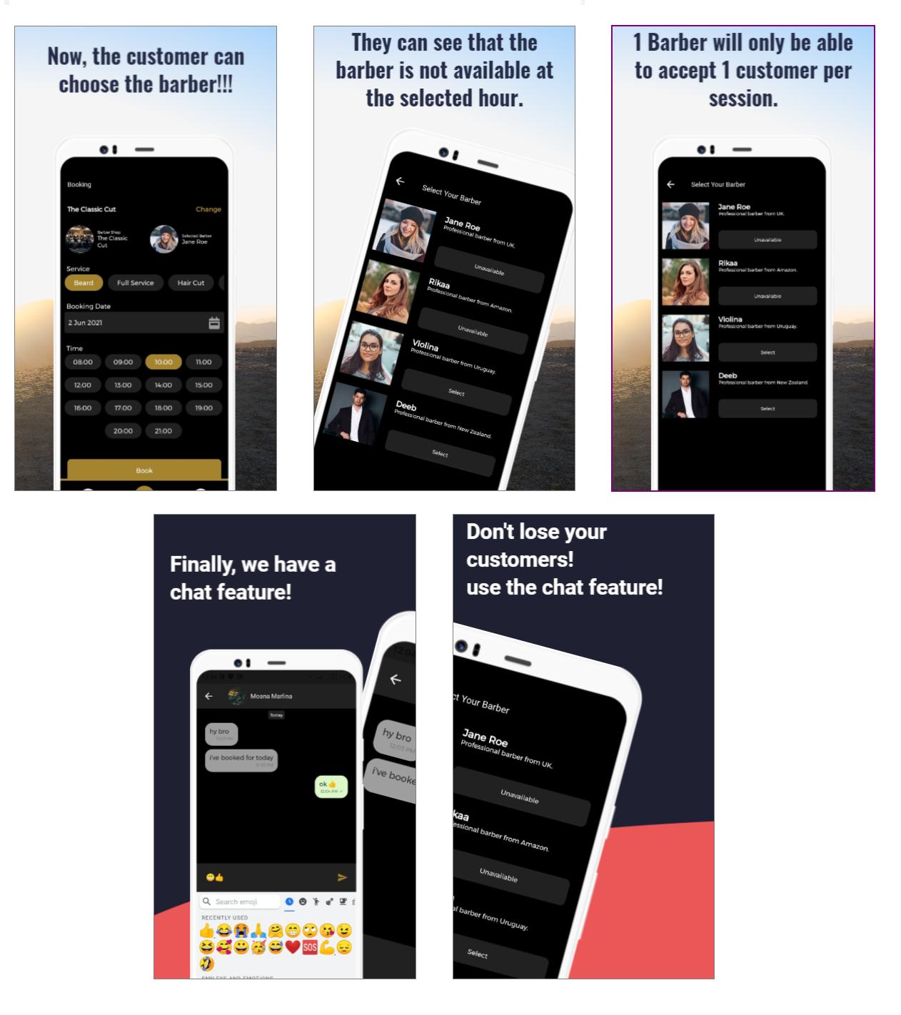 Barbershop Booking App - Full Flutter Application - 1