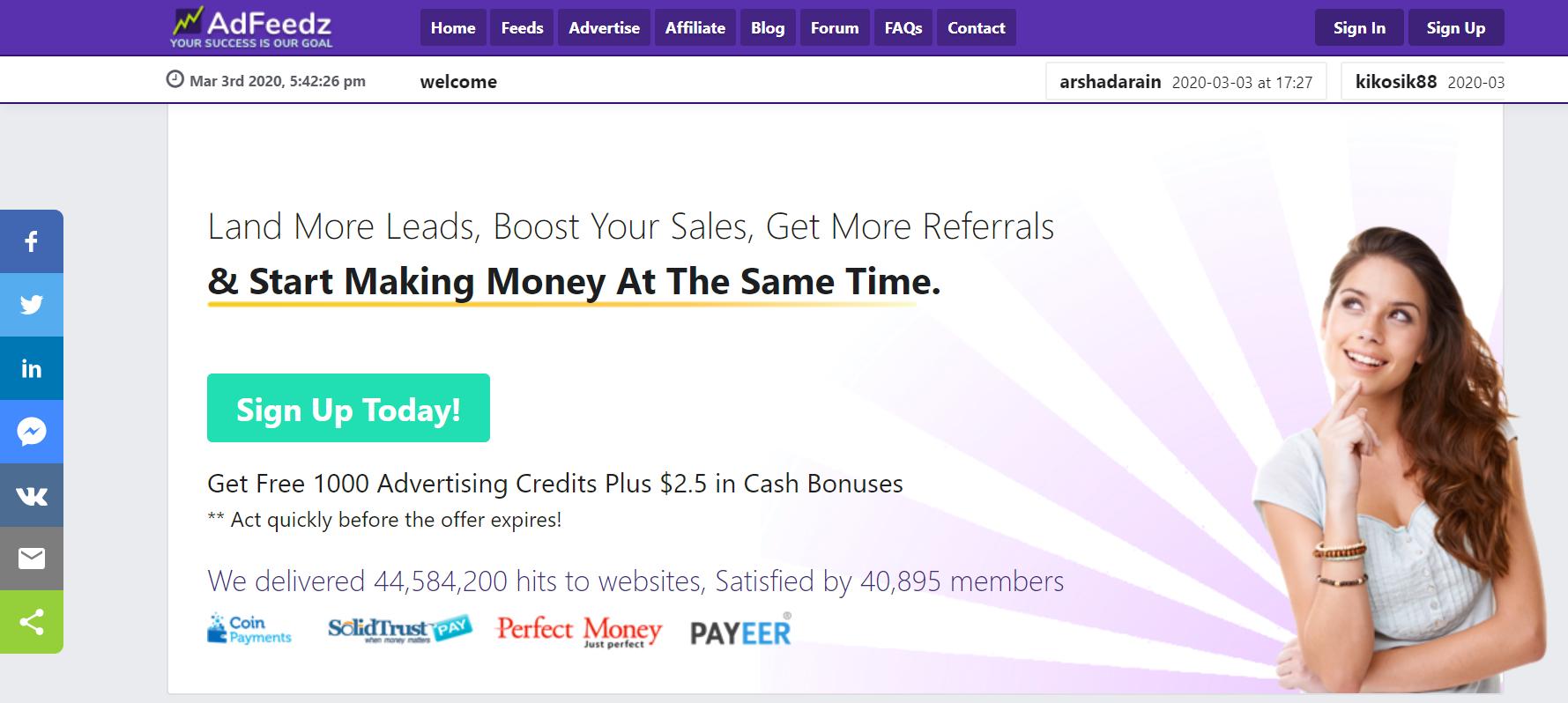 SCAM – Adfeedz.com review – Scam or Paying?