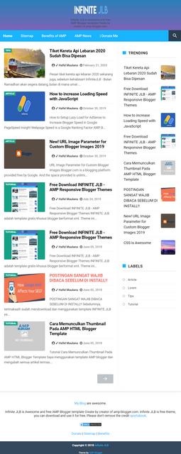 Infinite JLB Best Free AMP Blogger Templates