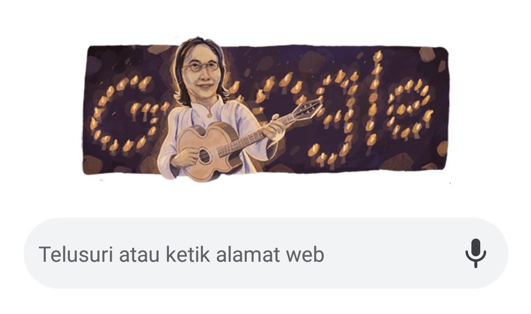 Chrisye jadi Google Doodle hari ini, Senin (16/9/2019).