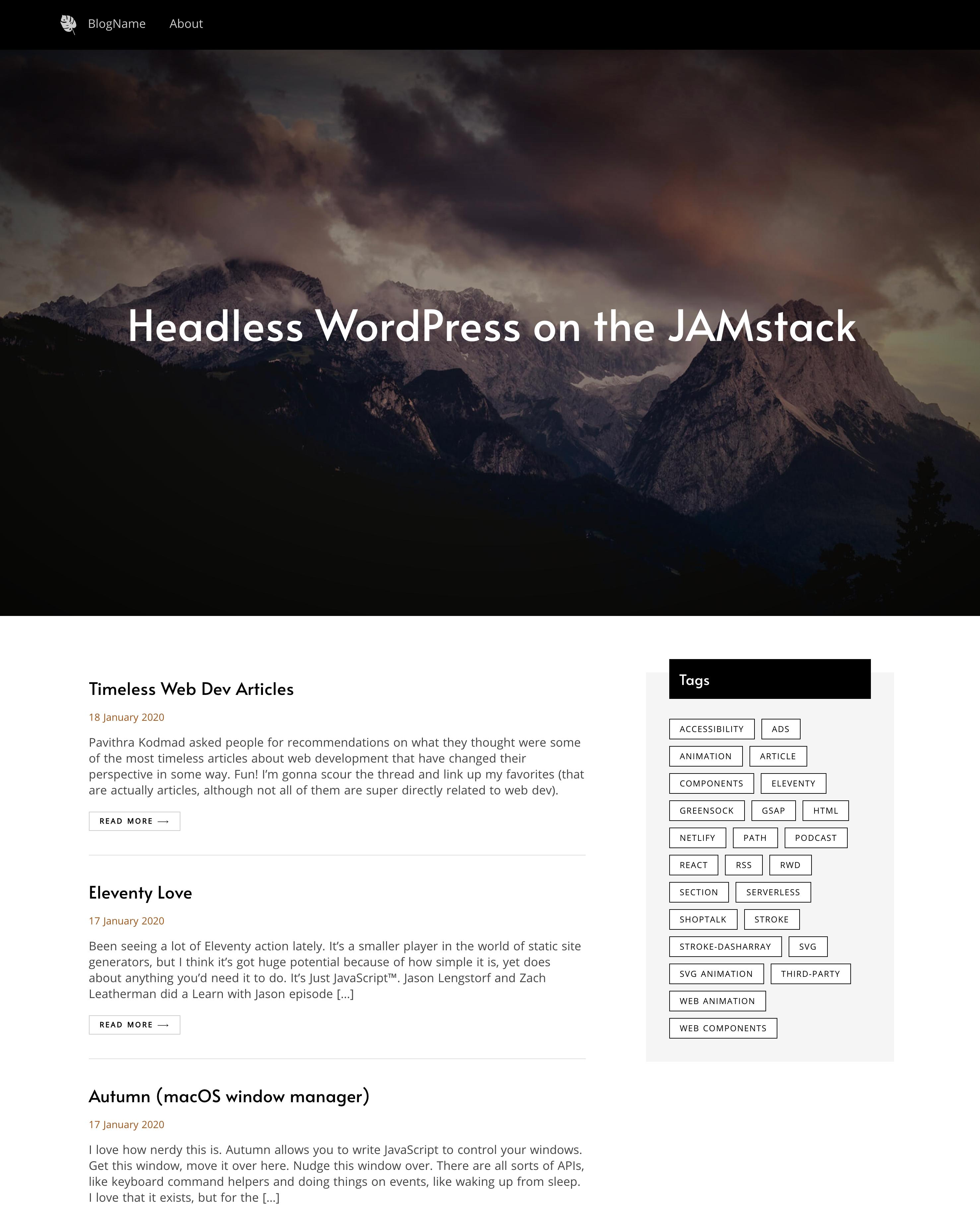 Headless WordPress Template Preview