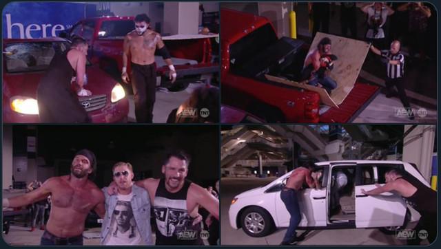 Chuck Taylor y Trent vencieron a Santana y Ortiz