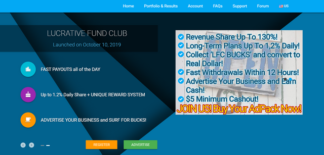 Lucrative-fund.club Review Scam or Paying Revshare?
