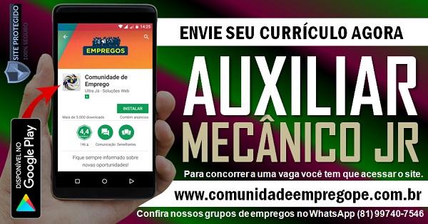 AUXILIAR MECÂNICO JR TEMPORÁRIO PARA EMPRESA DE TERCEIRIZAÇÃO DE SERVIÇOS