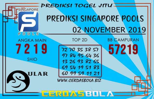 """Prediksi Togel """"SINGAPORE"""" CERDASBOLA 02 NOVEMBER 2019"""