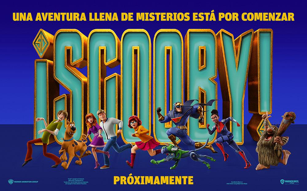 Afiche promocional de '¡Scooby!'. Imagen: Warner Bros.