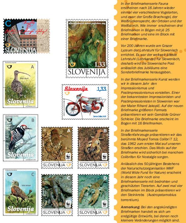 Slovenia stamps KATAL-2011