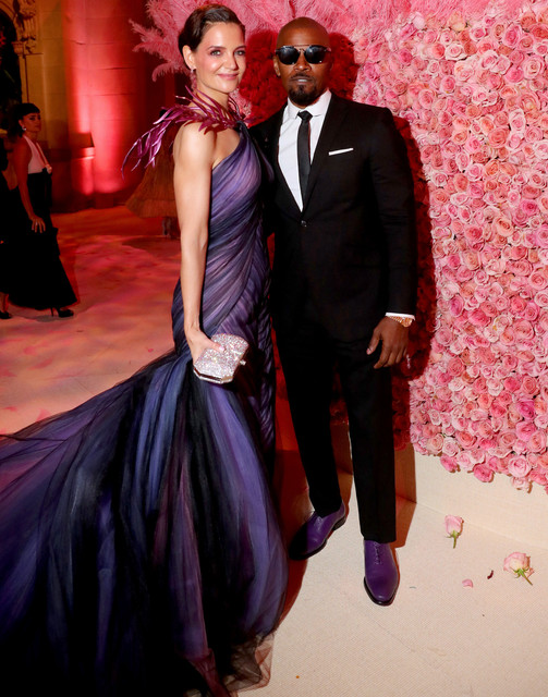 NEW-YORK-NEW-YORK-MAY-06-Katie-Holmes-and-Jamie-Foxx-attend-The-2019-Met-Gala-Celebrating-Camp-Notes