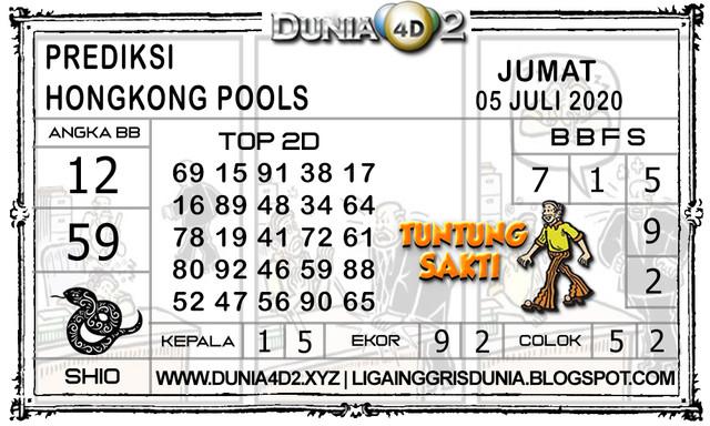 Prediksi Togel HONGKONG DUNIA4D2 05 JULI 2020