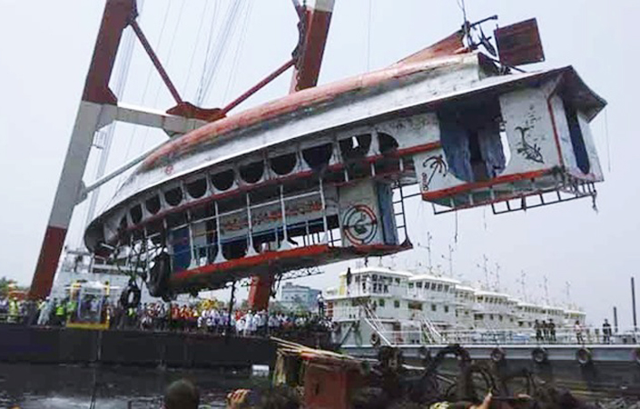 Sunken launch salvaged from Shitalakshya; Death toll rises to 26