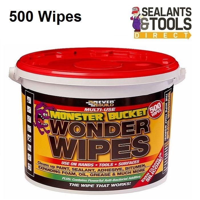 Everbuild Monster Bucket Wonder Wipes 500 Wipe Tub MONSTERW