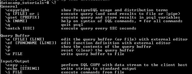 10 Command-line Utilities in PostgreSQL (article) - DataCamp