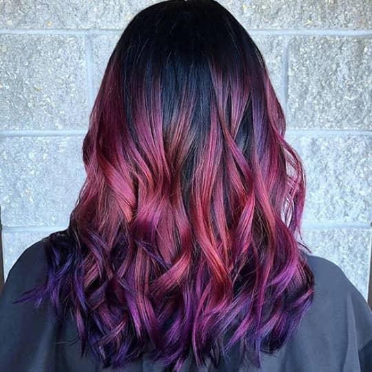 maroon -hair-color
