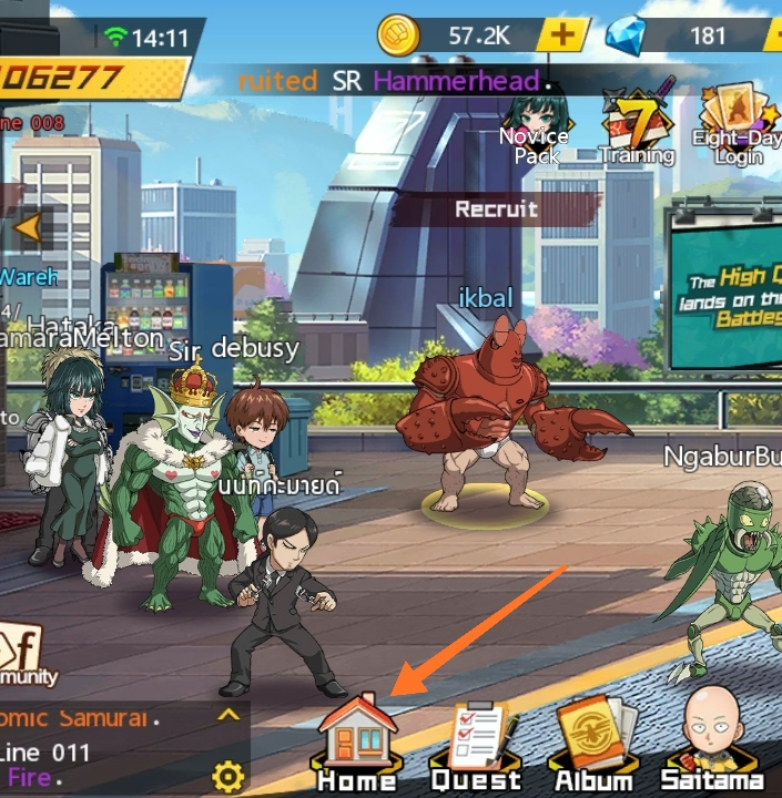 cara buat party one punch man