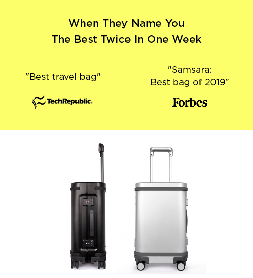 Forbes and Tech republic named Samsara the best luggage of 2019