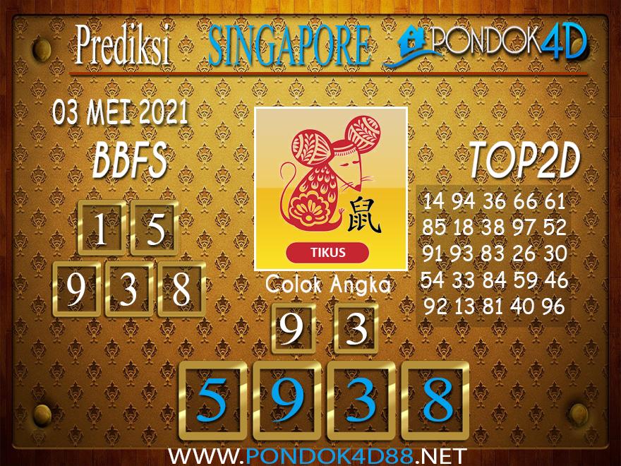 Prediksi Togel SINGAPORE PONDOK4D 03 MEI 2021