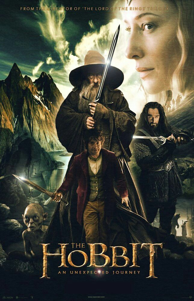 The Hobbit An Unexpected Journey (2012) Dual Audio Hindi 480p Bluray x264 AAC 650MB ESub