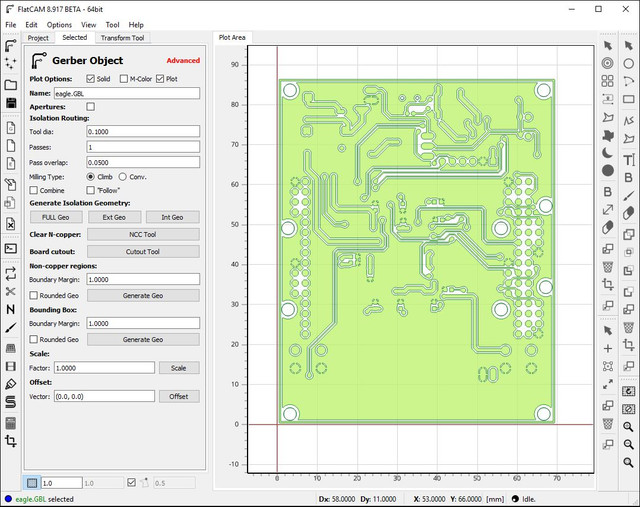 FlatCAM 8 917 - 2D Computer-Aided PCB Manufacturing | Board4All