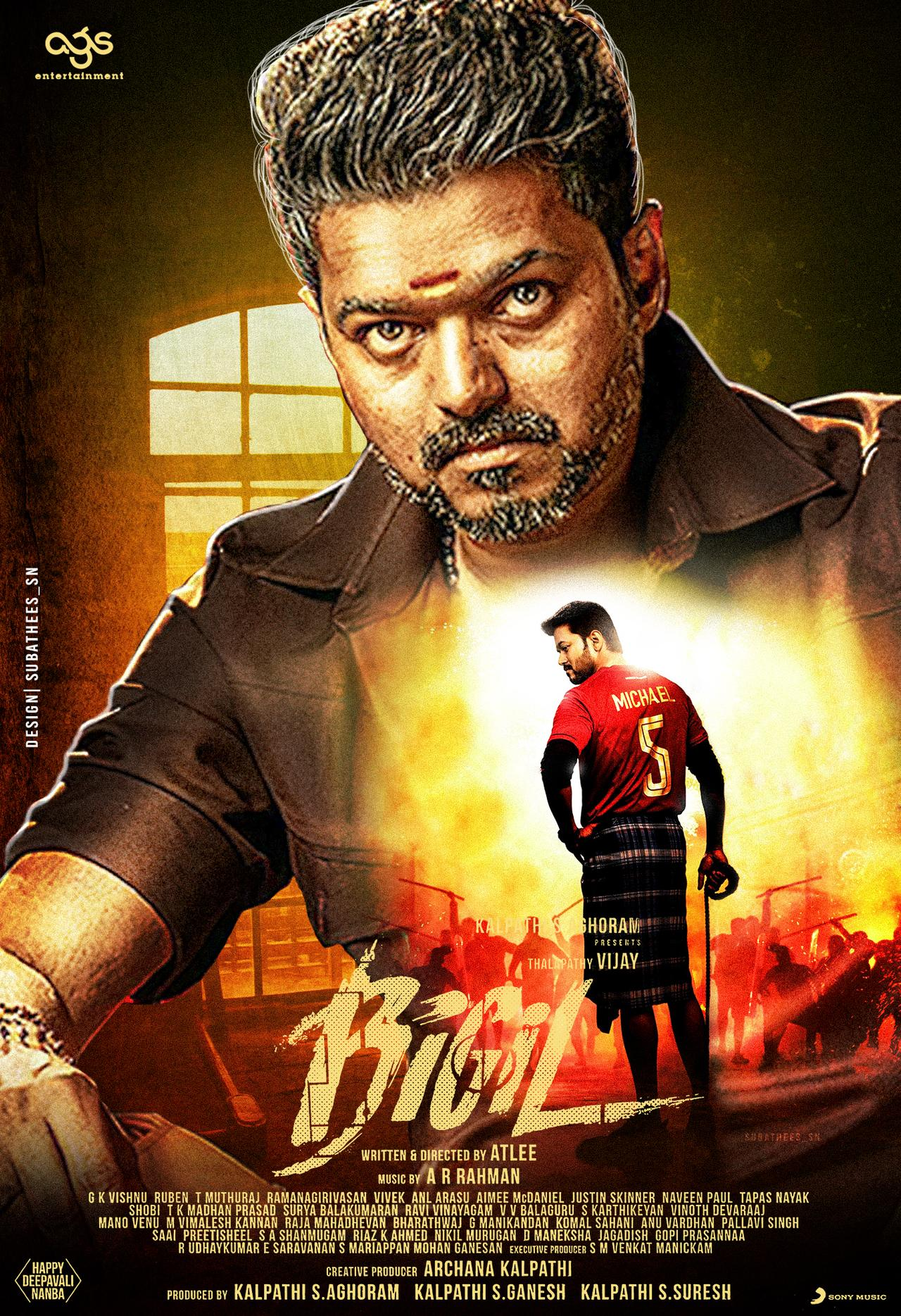 Bigil (2019) Tamil Action Movie HDRip DRR x264 AAC