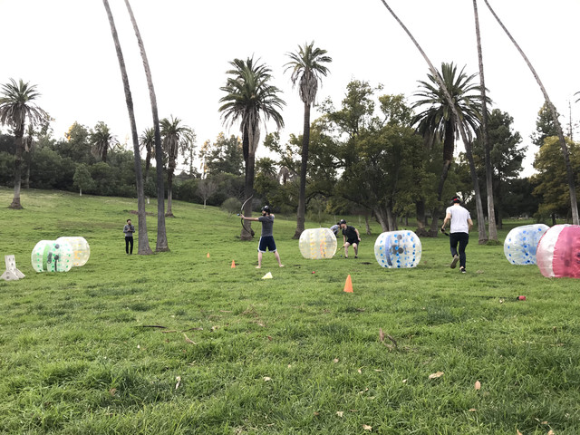 Adult Birthday Party with Archery Tag in Los Angeles