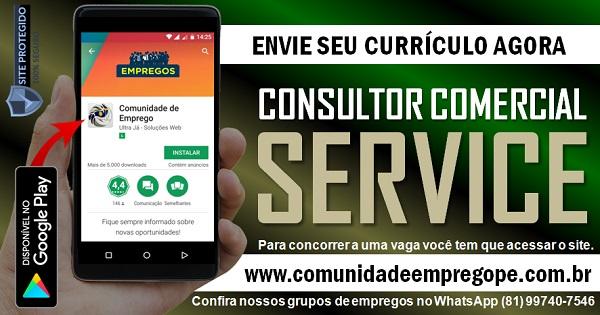 CONSULTOR COMERCIAL SERVICE PARA EMPRESA DE TERCEIRIZAÇÃO NO RECIFE