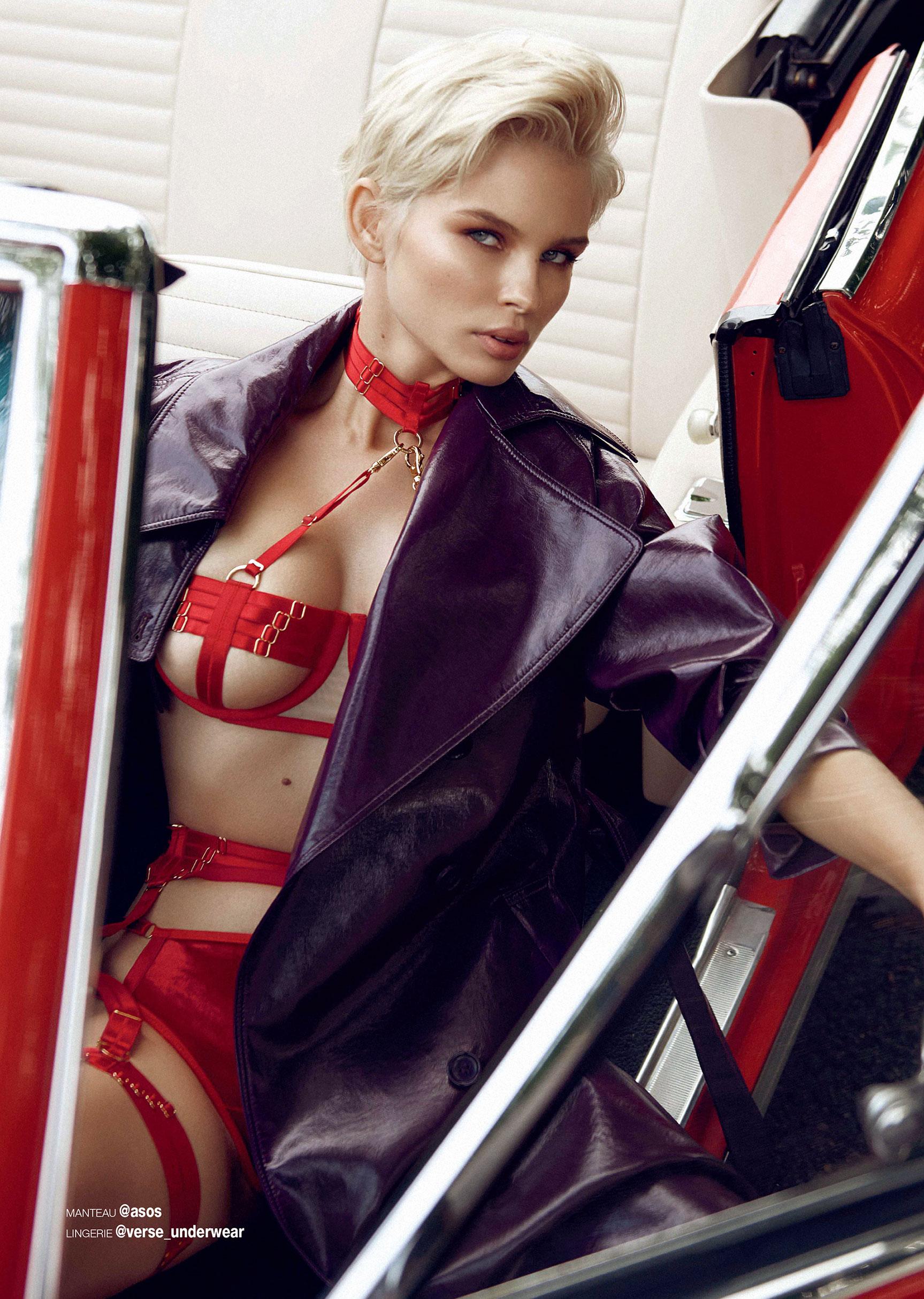 сексуальная полуголая Юлия Логачева в журнале Maxim Франция / фото 02
