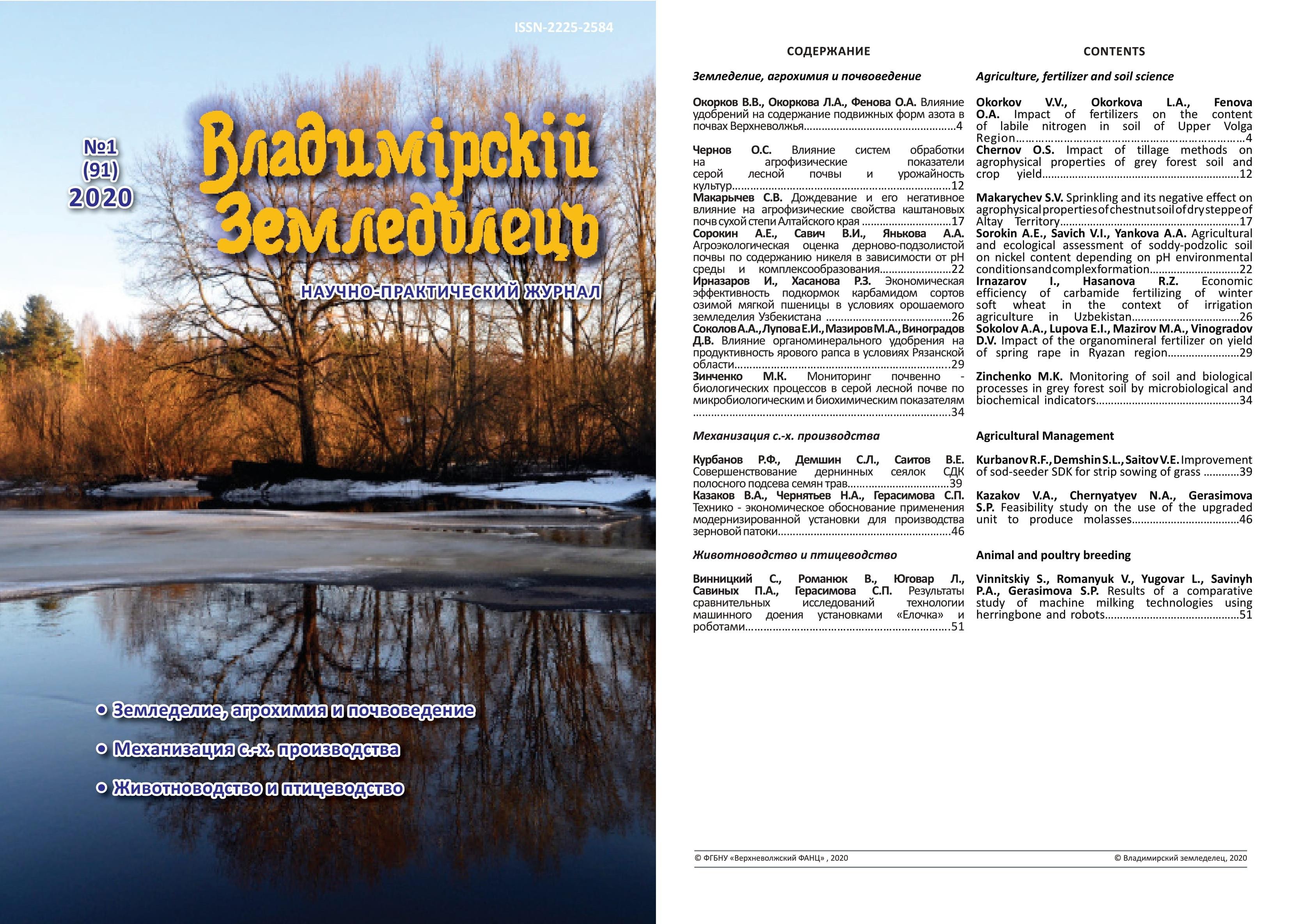 Владимирский земледелец 1(91) 2020