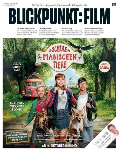 Cover: Blickpunkt Film Magazin No 34 vom 23  August 2021