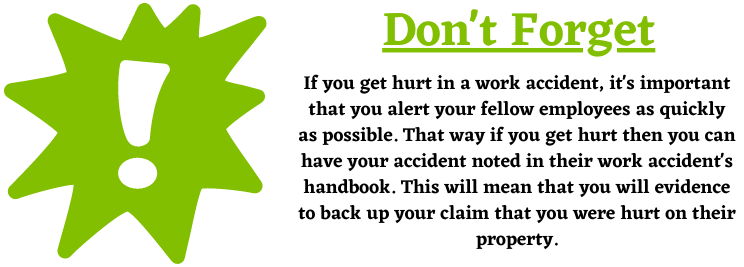 Alerting your employees about work accident claims