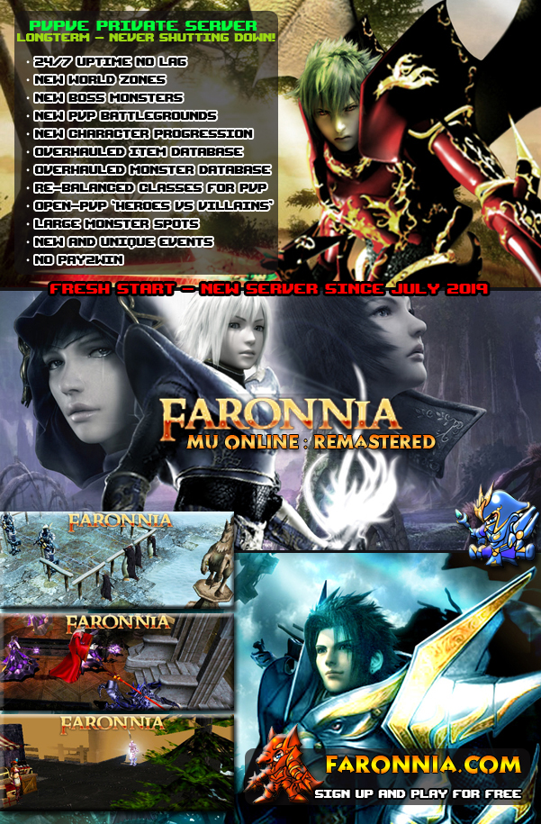 Faronnia MU Online:Remastered / Re-launching August 2019