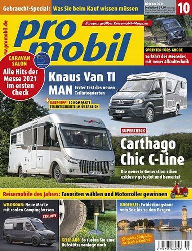 Cover: Promobil Reisemobilmagazin Oktober No 10 2021