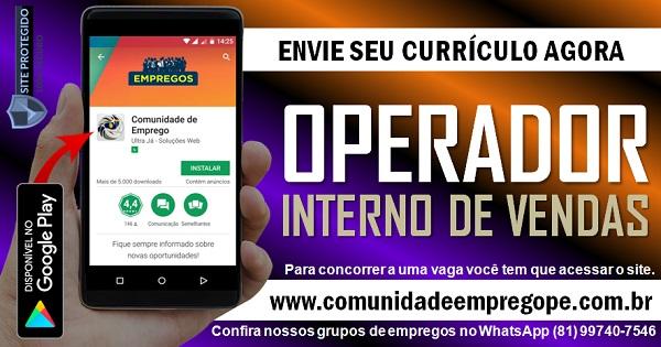 OPERADOR INTERNO DE VENDAS PARA DISTRIBUIDORA HOSPITALAR EM CAMARABIGE