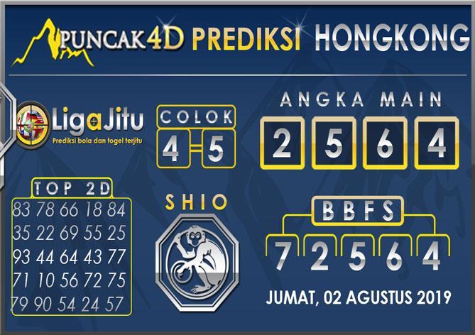 PREDIKSI TOGEL HONGKONG PUNCAK4D 02 AGUSTUS 2019